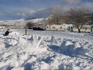 Campground at Winter time