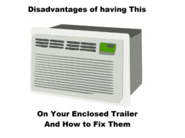 Enclosed Trailer With AC Header