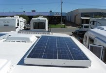 Solar Panel on top of the RV collecting Sun
