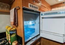 Wooden Camper Fridge