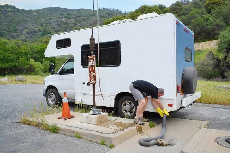 How To Dump The RV's Freshwater Tank