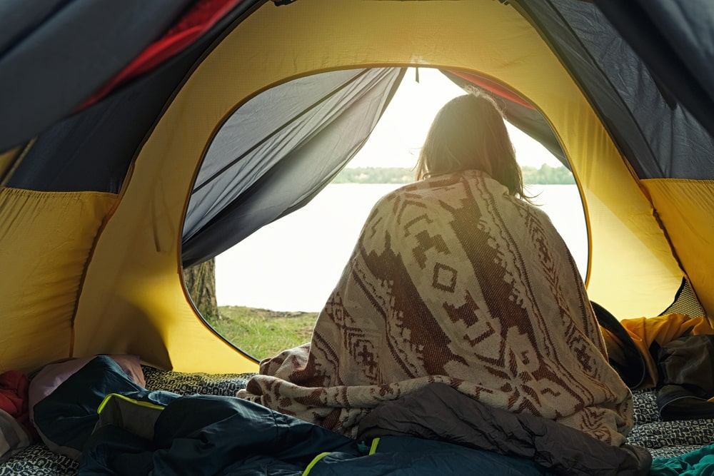camping with blankets instead of sleeping bags