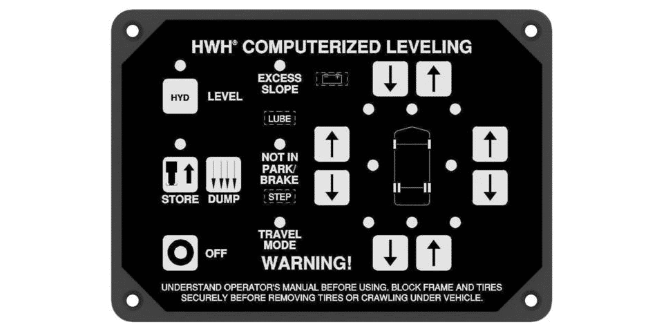 hwh leveling system not working