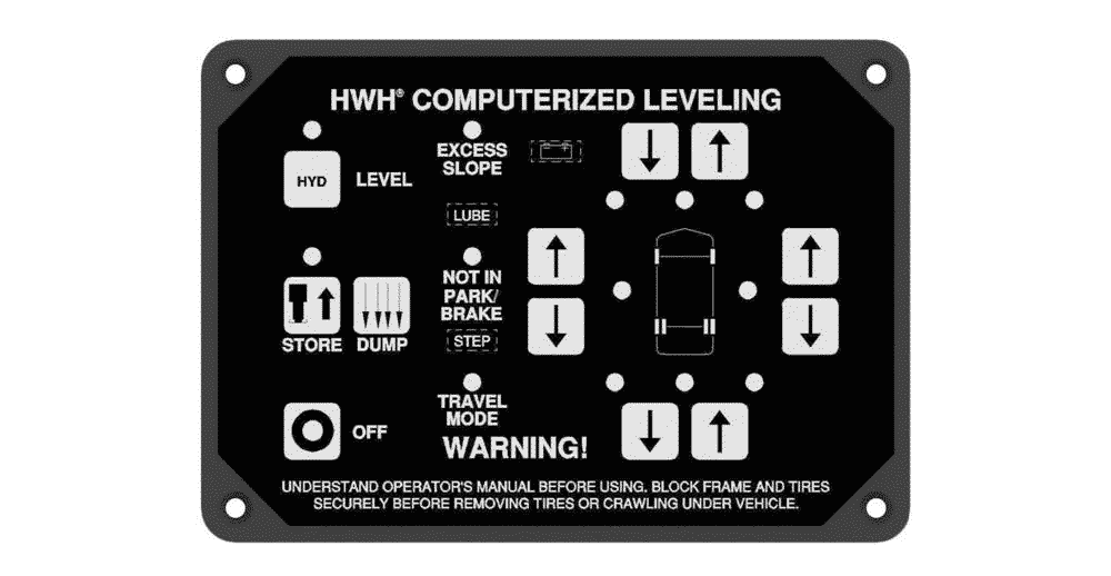 hwh leveling system reset