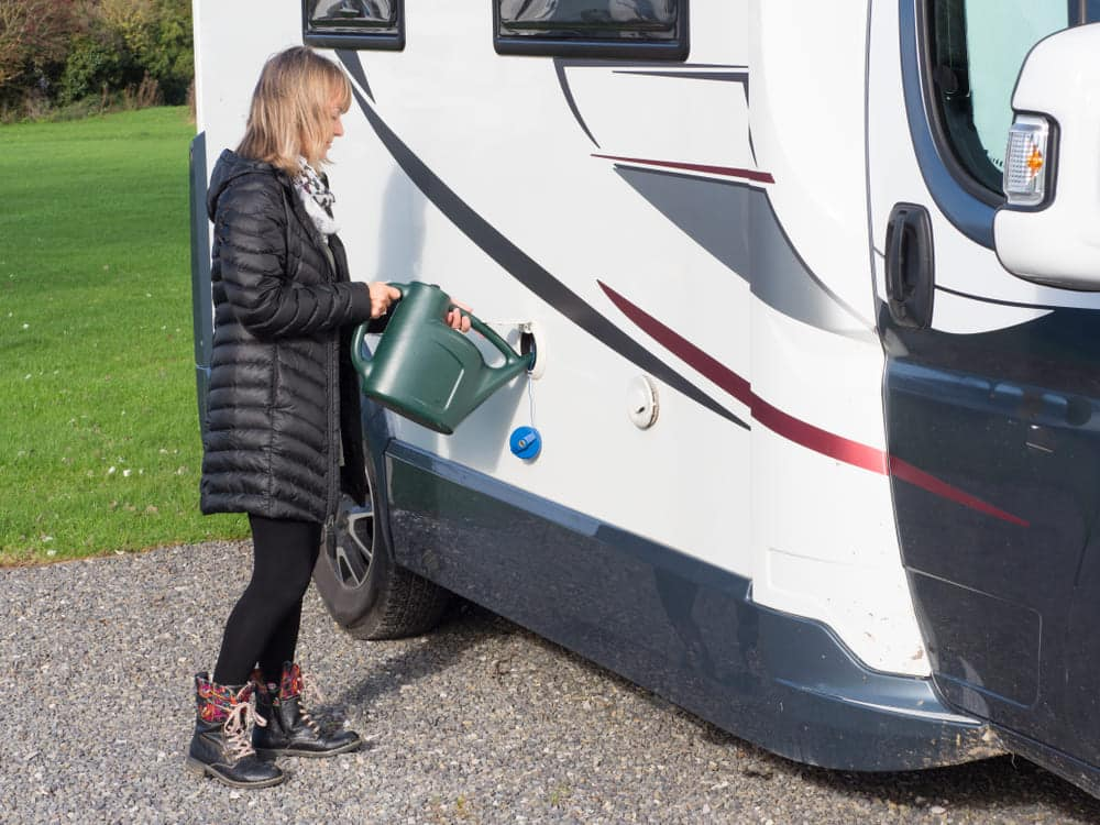 how to fill rv water tank without a hose
