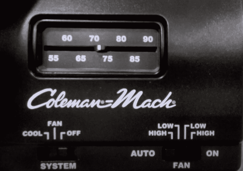 coleman mach thermostat issues