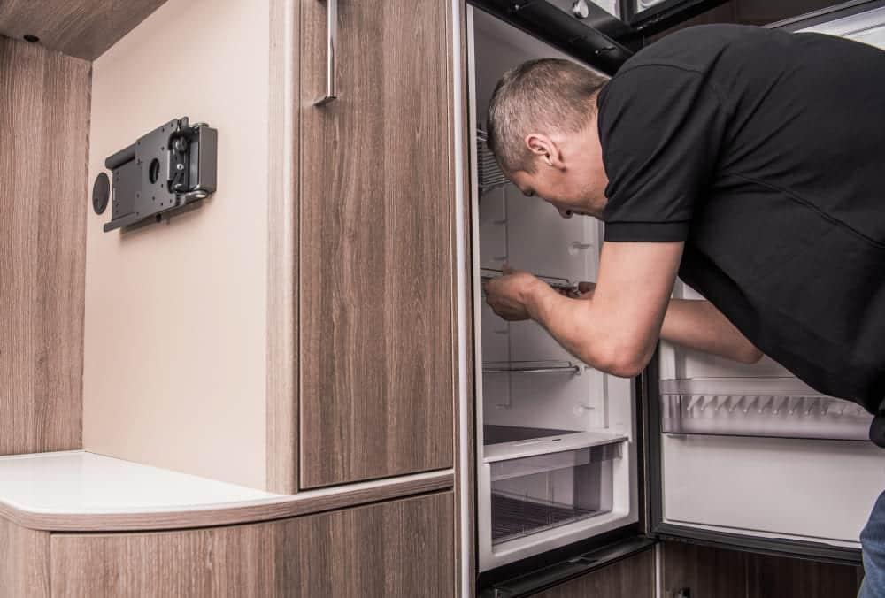 how to check ammonia level in rv fridge