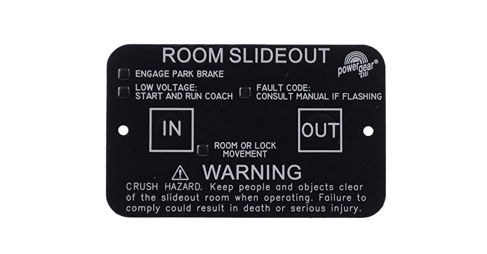 power gear slide out fault code
