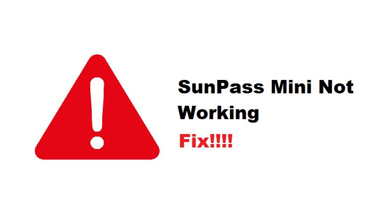 sunpass mini not working