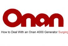 onan 4000 generator surging