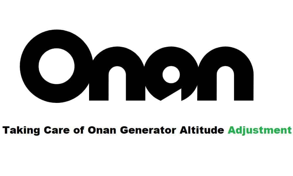 onan generator altitude adjustment