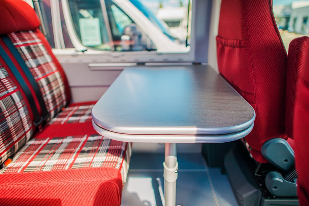 adding seatbelts to motorhome dinette