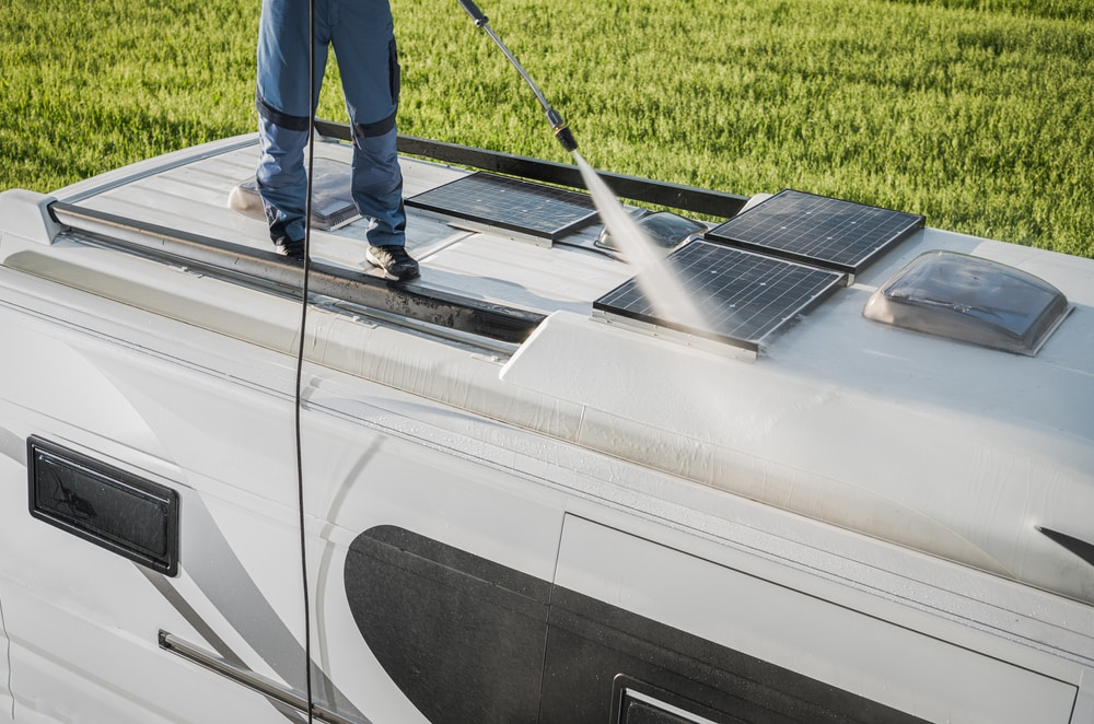 how to clean rv roof before sealing