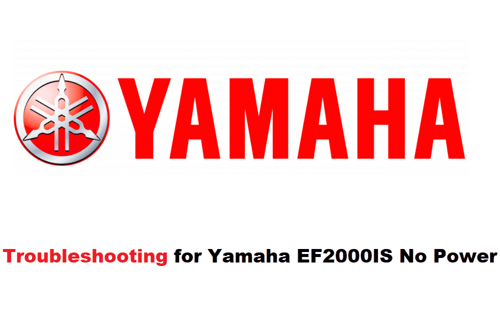 yamaha ef2000is no power